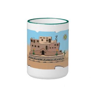 Casa de la arcilla taza de dos colores
