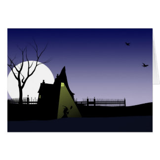 Casa de la bruja de Halloween Tarjeta De Felicitación