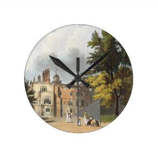 Casa de la carta del cuadrado de la historia del relojes