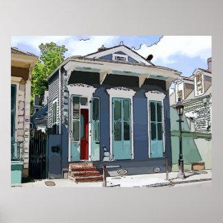 Casa de la escopeta de New Orleans Poster