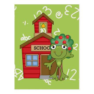 Casa de la escuela de la rana postal
