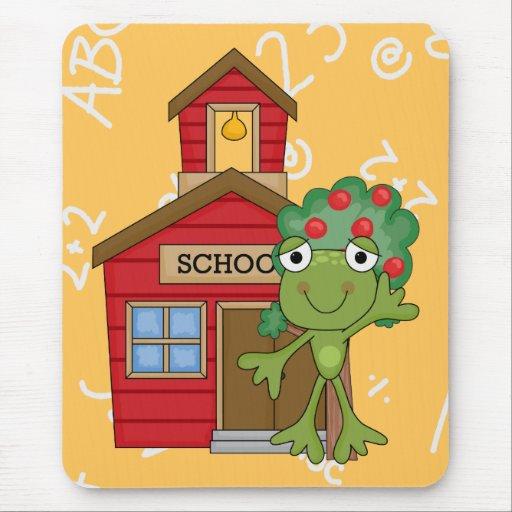 Casa de la escuela de la rana tapetes de ratón