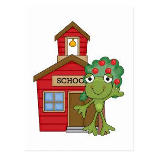 Casa de la escuela de la rana tarjetas postales