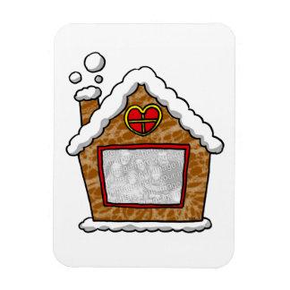 casa de la galleta del navidad de la foto de famil imanes de vinilo