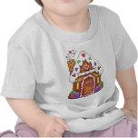 Casa de la galleta del pan de jengibre camisetas