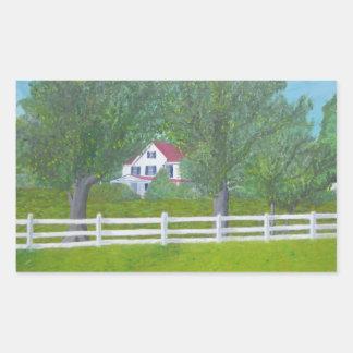Casa de la granja del col - Purcellville, VA Pegatina Rectangular