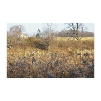 Casa de la granja lienzo envuelto para galerías