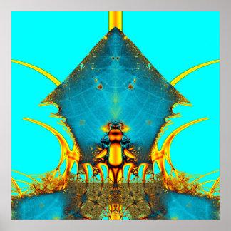 Casa de la hormiga amarilla póster