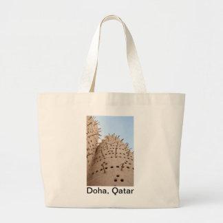 Casa de la paloma de Qatari Bolsas Lienzo