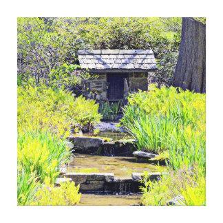 Casa de la primavera lona estirada galerias