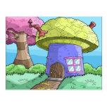 casa de la seta tarjetas postales