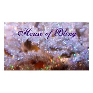Casa de la tarjeta de visita de Bling