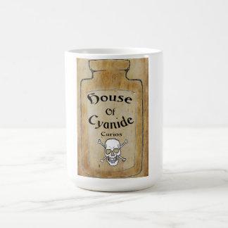 Casa de la taza de café clásica de los objetos cur