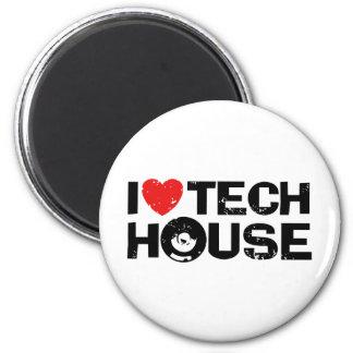 Casa de la tecnología imán redondo 5 cm