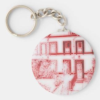 Casa de la terraza del Victorian Llavero Redondo Tipo Pin