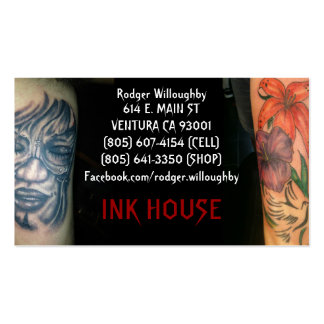 Casa de la tinta tarjetas de visita