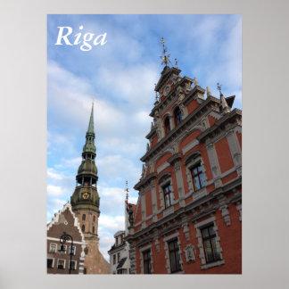 Casa de las espinillas. Riga, Letonia Posters