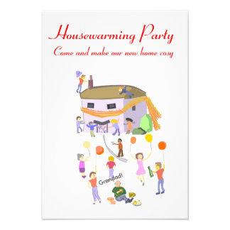 Casa de las invitaciones del fiesta del estreno de