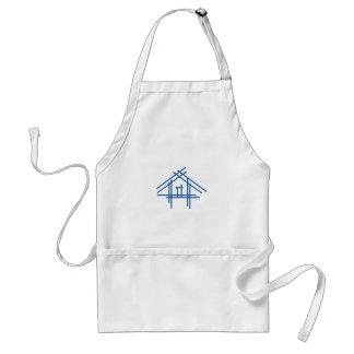Casa de las propiedades inmobiliarias delantales