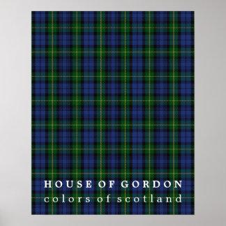Casa de los colores de Gordon del tartán de Póster