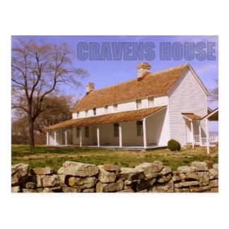 Casa de los Cravens - montaña del puesto de observ Tarjeta Postal