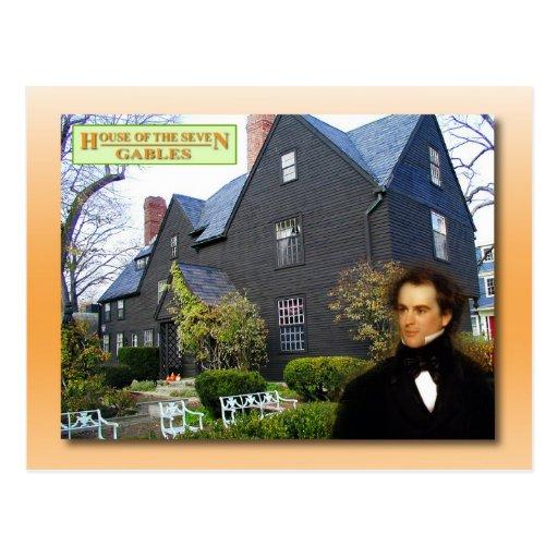 Casa de los siete aguilones, Salem, Massachusetts Tarjeta Postal