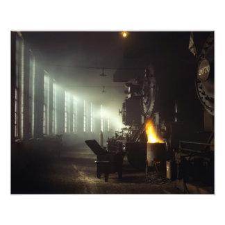 Casa de máquinas de las locomotoras impresiones fotograficas