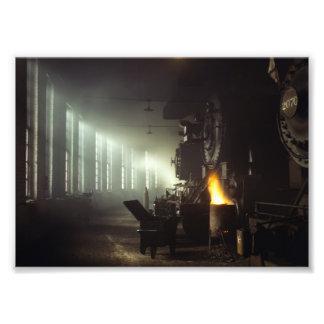 Casa de máquinas de las locomotoras fotografía