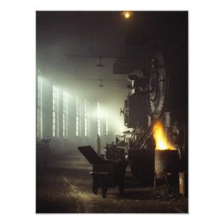 Casa de máquinas de las locomotoras foto