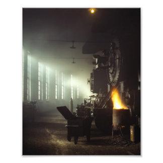 Casa de máquinas de las locomotoras fotos