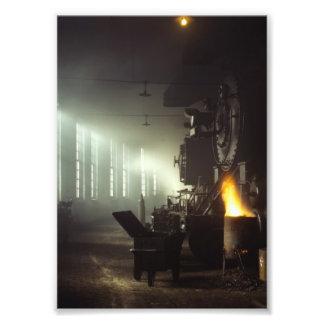 Casa de máquinas de las locomotoras arte fotográfico