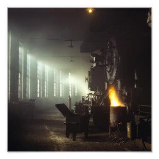 Casa de máquinas de las locomotoras fotografías