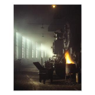 Casa de máquinas de las locomotoras arte con fotos