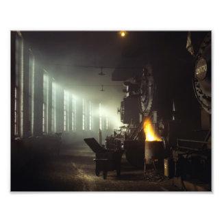Casa de máquinas de las locomotoras fotografias