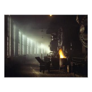 Casa de máquinas de las locomotoras impresiones fotográficas