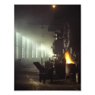Casa de máquinas de las locomotoras cojinete