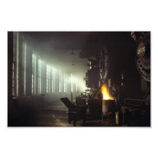 Casa de máquinas de las locomotoras impresión fotográfica