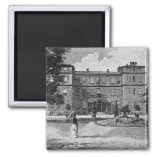 Casa de Marlborough, del jardín, 1863 Imán Cuadrado