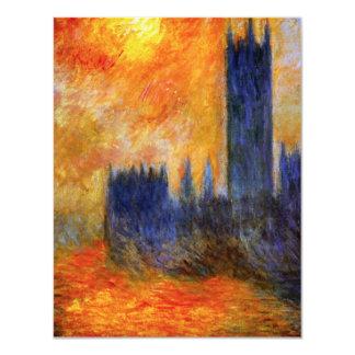 """Casa de Monet de las invitaciones del parlamento y Invitación 4.25"""" X 5.5"""""""