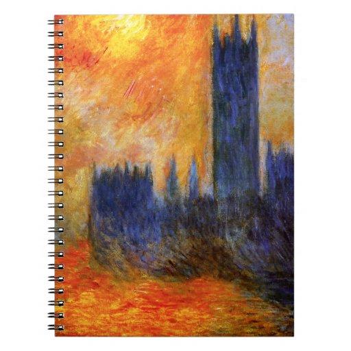 Casa de Monet del cuaderno del parlamento y de la