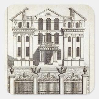 Casa de Monmouth cuadrado de Soho Calcomanía Cuadradas Personalizadas