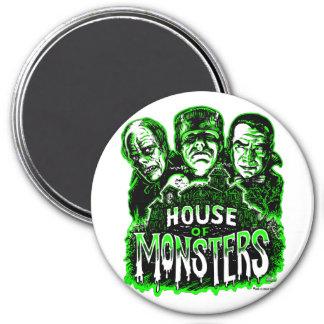 Casa de monstruos imán redondo 7 cm