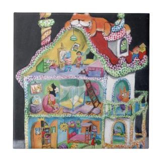 Casa de muñecas mágica azulejos
