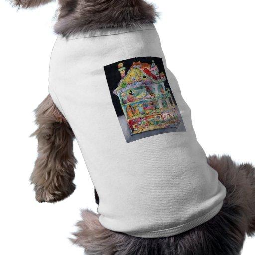 Casa de muñecas mágica playera sin mangas para perro