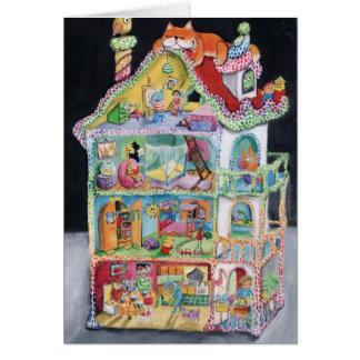Casa de muñecas mágica tarjeton
