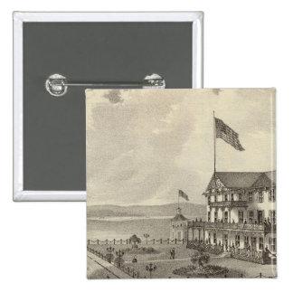 Casa de Neptuno, playa del océano, NJ Pin Cuadrada 5 Cm