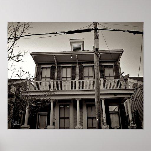Casa de New Orleans [impresión del arte] Póster