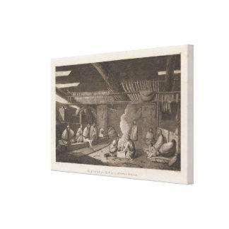 Casa de Nootka, Columbia Británica Lona Envuelta Para Galerías