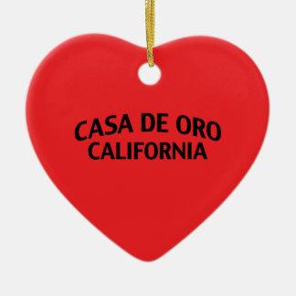 Casa de Oro California Ceramic Ornament