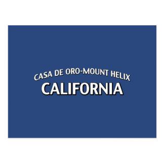 Casa de Oro-Mount Helix California Postcard
